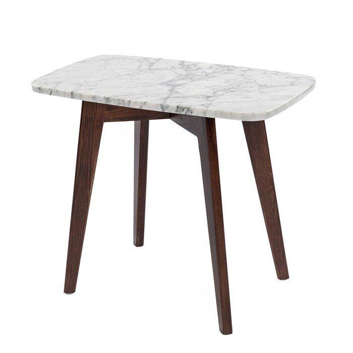 Ivy Bronx Hortencia End Table Wayfair Marble End Tables Cool Table Lamps White Marble Table