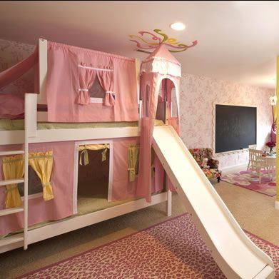 33 best loft bed with slide images on pinterest kid bedrooms 3 4 beds and child room. Black Bedroom Furniture Sets. Home Design Ideas