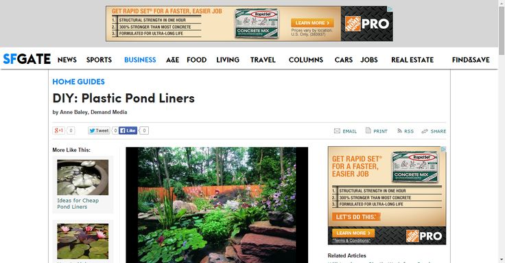 DIY: Plastic Pond Liners | Home Guides | SF Gate