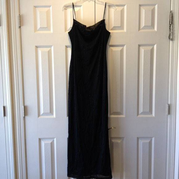 Selling this Long Black Dress in my Poshmark closet! My username is: hanna_stevens. #shopmycloset #poshmark #fashion #shopping #style #forsale #Dresses