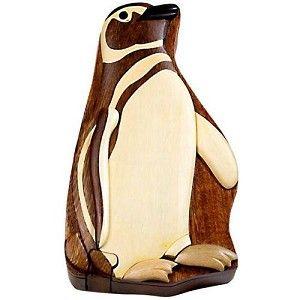 Penguin - Secret Wooden Puzzle Box