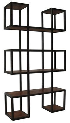 Imagine a row of these modern bookcases lining a loft wall or studio creating a fantastic mosaic. The warm metal and wood tones provide a sophisticated and creative home for all your favorite magazines, books and objects d'arte.Not the right size,finish, color? At Mortise & Tenon we can customize any piece to your exactspecifications including dimensions, wood choice and finish or create a brandnew design. Every piece ishand made in our L.A. wood shop since 1989.