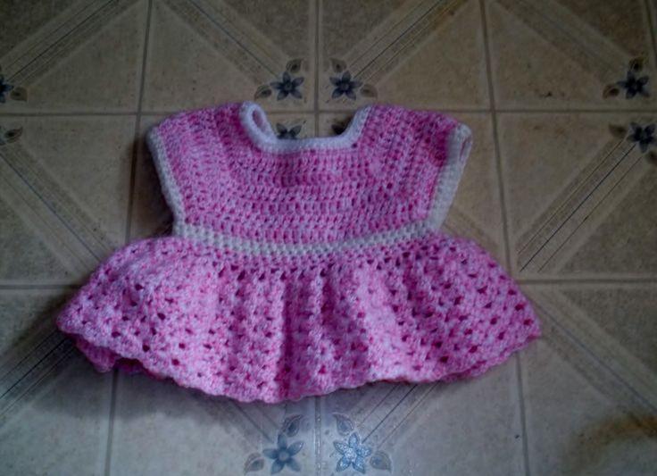 baby crochet dress. 6 - 9 months