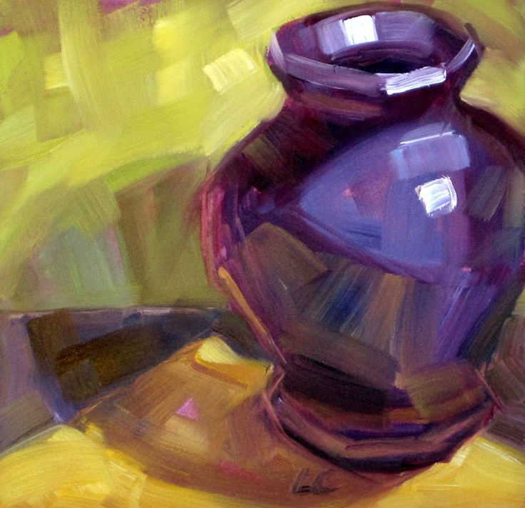 Purple Vase By Layne Cook