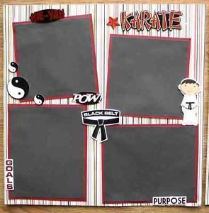 "taekwondo+scrapbook+layouts | Details about ""KARATE"" Premade Scrapbook Pages Amy"