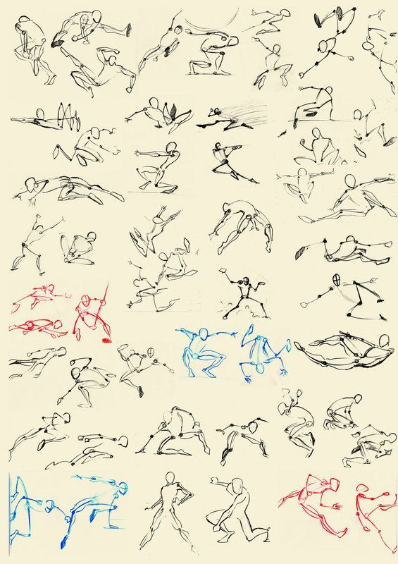 Dynamic poses art characters poses pinterest for Body movement drawing