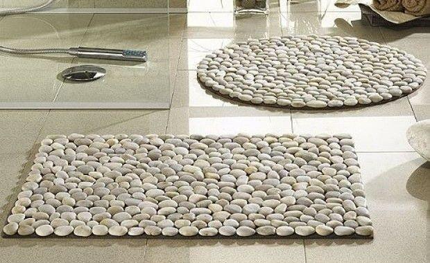 The cheapest way to make a unique bathroom carpet!