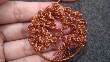 Tutorial DIY Wire Jewelry Image Description Técnica de alambre de joyería de alambre de embalaje. Tipos de trenzas.   Oficios