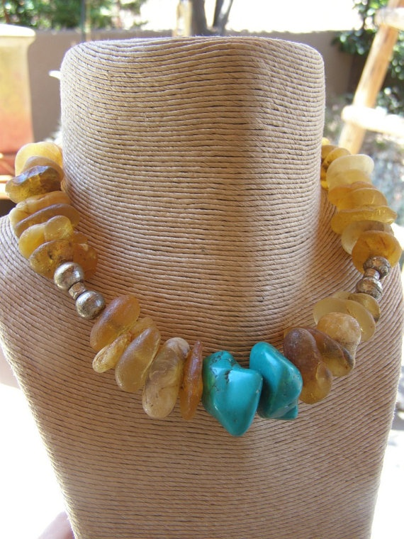 Ethiopian Thick Chunky Amber With African by lalunaranchwear