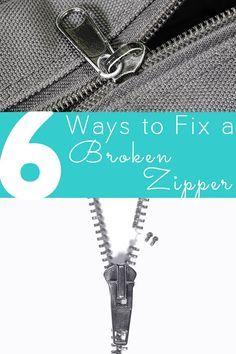 Round-up: 6 ways to fix a broken zipper | Sewing | CraftGossip | Bloglovin'