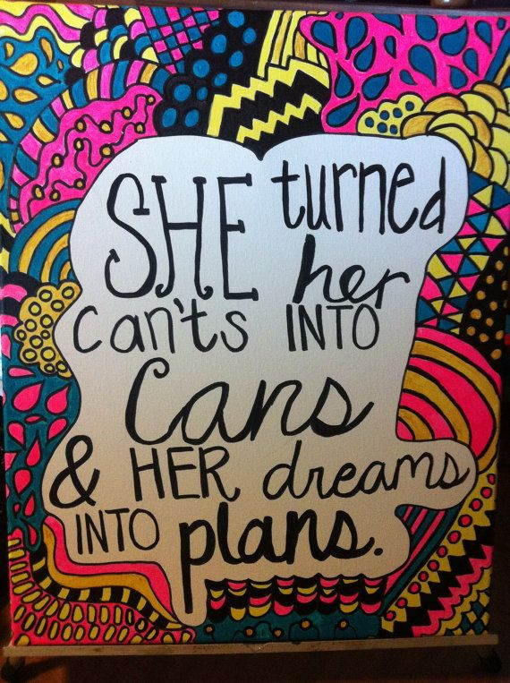 Hand painted 16x20 canvas with quote on Etsy, $35.00