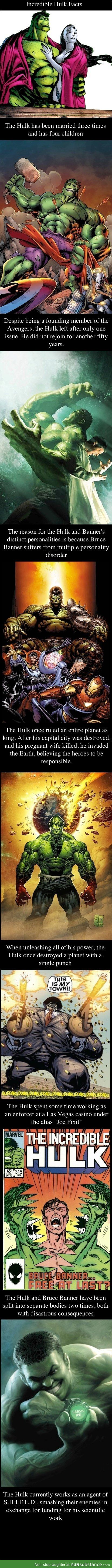 Incredible hulk facts compilation