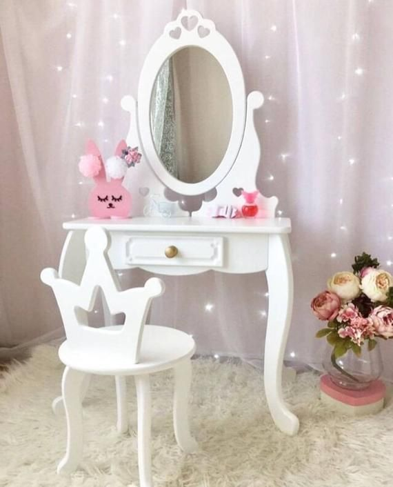 Kids Dressing Table Girl S Dressing Table With Mirror White