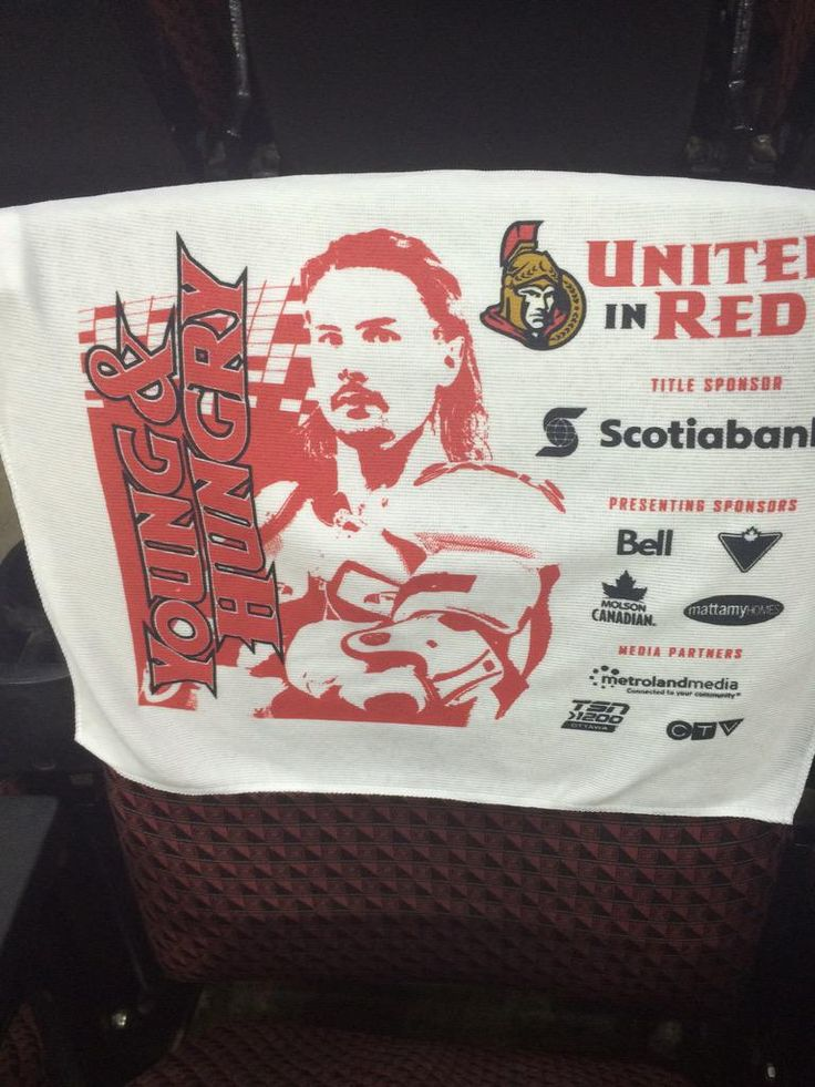 Here are the Erik Karlsson towel that Sens fans will get inside the rink tonight. Game 3 - Montreal vs Ottawa. April 19, 2015