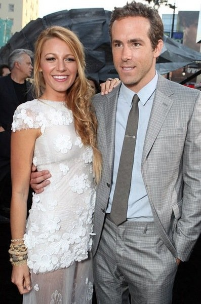 Blake Lively and Ryan Reynolds. Married 2012