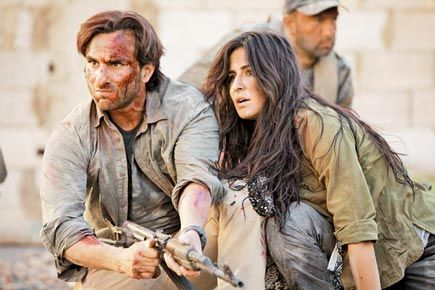 """Saif Ali Khan and Katrina Kaif in 'Phantom' There is a gripping scene in this film when one of the key characters desperately asks a few navy officers, """"Do you remember that night of 26/11 when you felt the most helpless and vulnerable?""""  http://www.mid-day.com/articles/phantom---movie-review/16489195"""