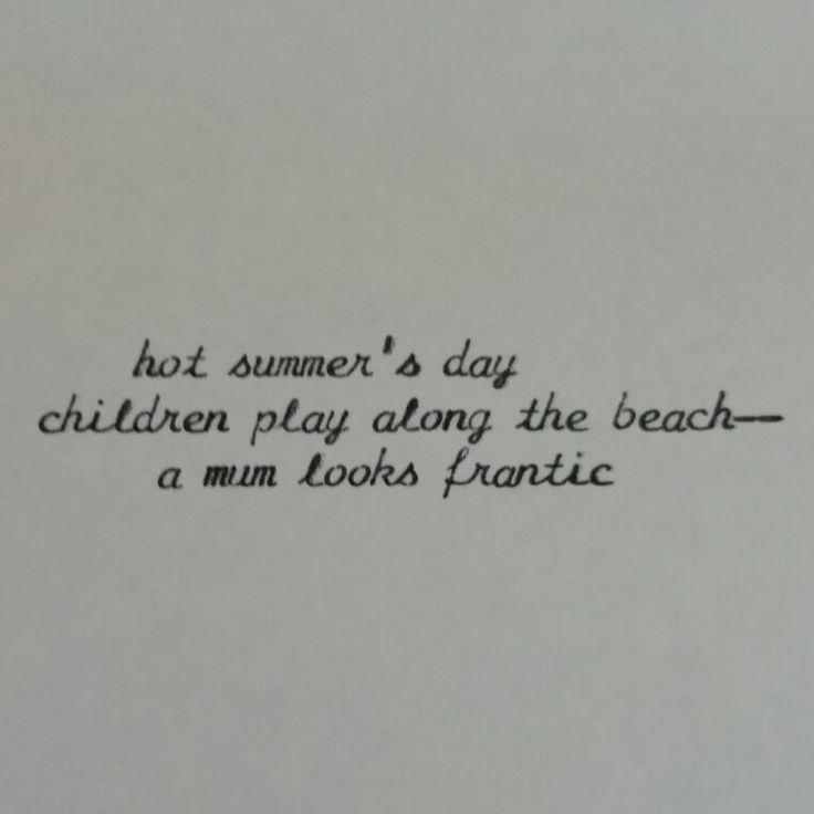 #typewriter #haiku