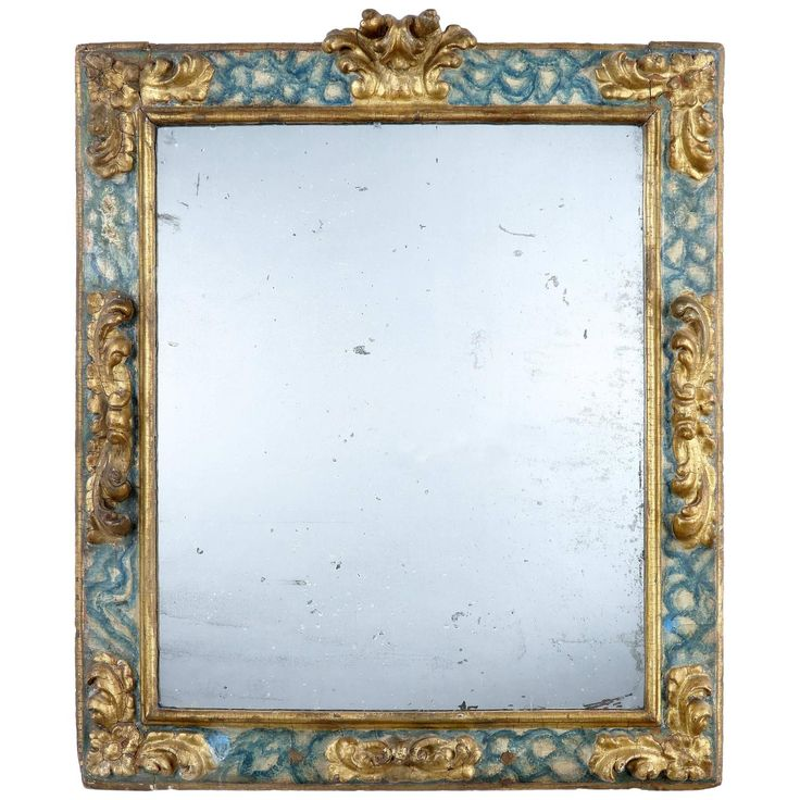 17th Century Faux Marble and Giltwood Mirror | See more antique and modern Wall Mirrors at https://www.1stdibs.com/furniture/mirrors/wall-mirrors