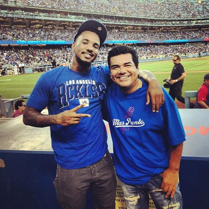 Game & George Lopez at the Dodgers game