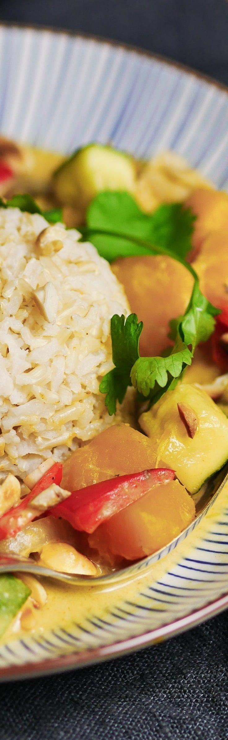 Kürbis - Curry mit Bio Vollkorn Basmati Reis - Soul Food für den Herbst