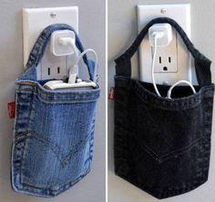 8 Ideias de Artesanato com Bolso de Calça Jeans   Reciclagem no Meio Ambiente
