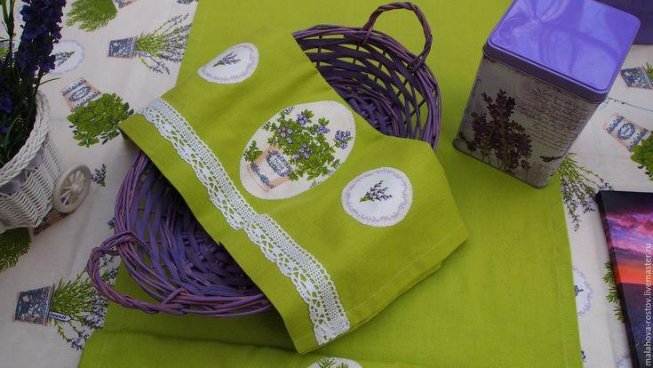 Купить или заказать Столовые дорожки-салфетки 'Травы прованса' в…