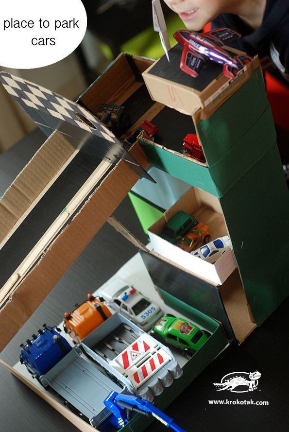 Cardboard Boxes Race Track