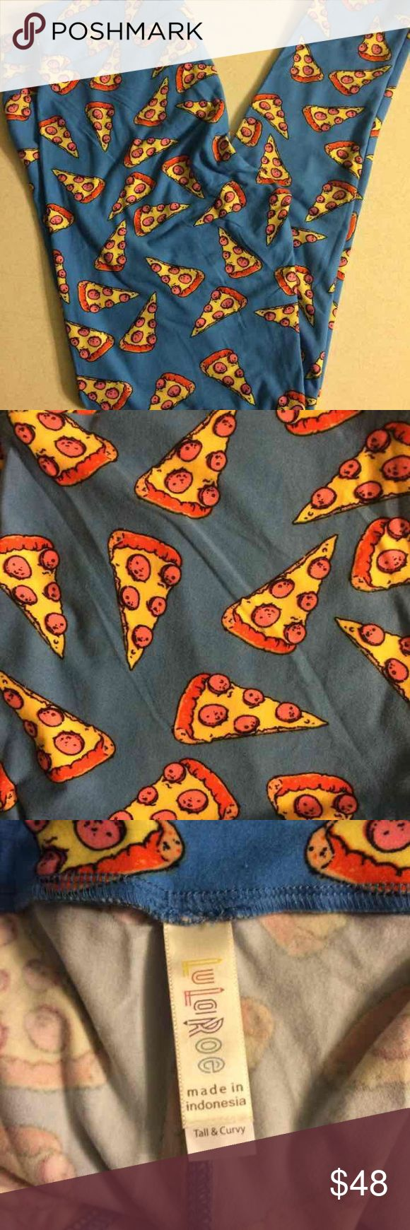LuLaRoe leggings TC pizza rare unicorn Brand new, never worn LuLaRoe pizza rare unicorn print leggings; tall and curvy, made in Indonesia. Cross posted ** LuLaRoe Pants