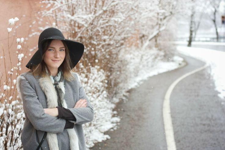 Wearing Wool & Cashmere dress, Wool & Cashmere / Faux Fur Reversible Vest. Shop here: meandm.bigcartel.com
