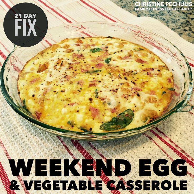 21 Day Fix Breakfast -- Weekend Egg & Vegetable Casserole