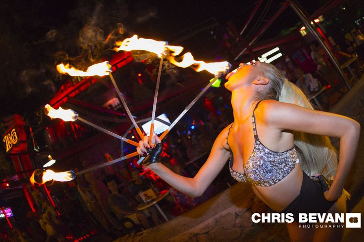 ITACA IBIZA , SAN ANTONIO THE AMAZING FIRE EATERS