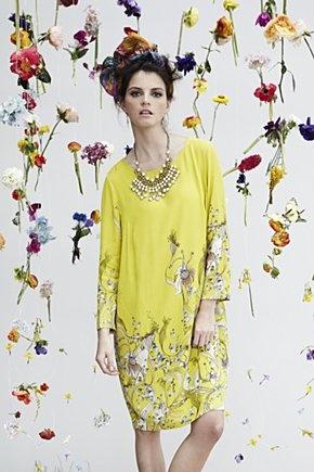 Rutzou's citron crepe dress