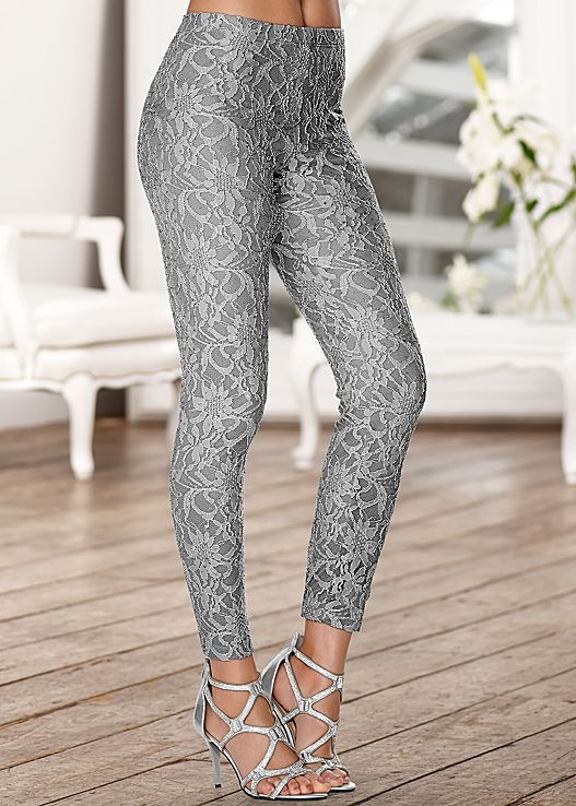 We're all about that lace! Venus lace leggings with Venus embellished evening sandal.