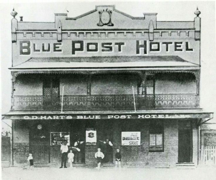 Blue Post Hotel in Hurstville in southern Sydney in the 1880s. •Hurstville Council•