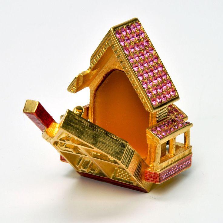 2002 Collection Estee Lauder викторианский кукольный домик твердые духи компактный