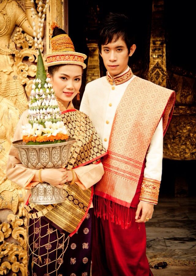 Lao traditional dress | Sinh Lao | Pinterest