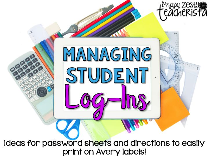 Managing Student Logins. Quick simple way to manage an entire class set of logins for various programs!