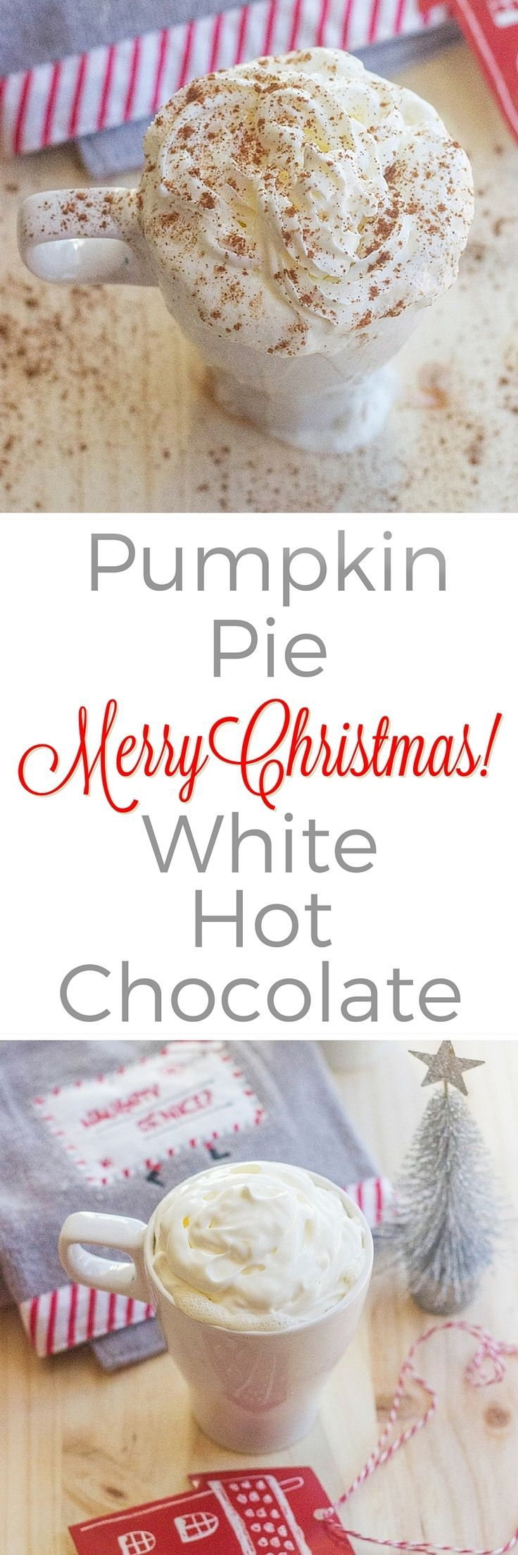 This Pumpkin Pie White Hot Chocolate is made with leftover pumpkin pie ...