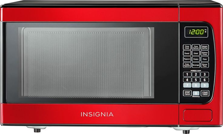 Insignia™ - 0.9 Cu. Ft. Compact Microwave - Red