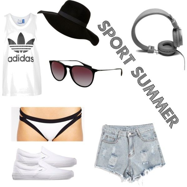 SPORT SUMMER by iffmann on Polyvore featuring adidas, Seafolly, Vans, Ray-Ban and Urbanears