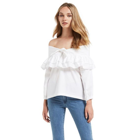 50's Frill Off Shoulder Top Seed Heritage