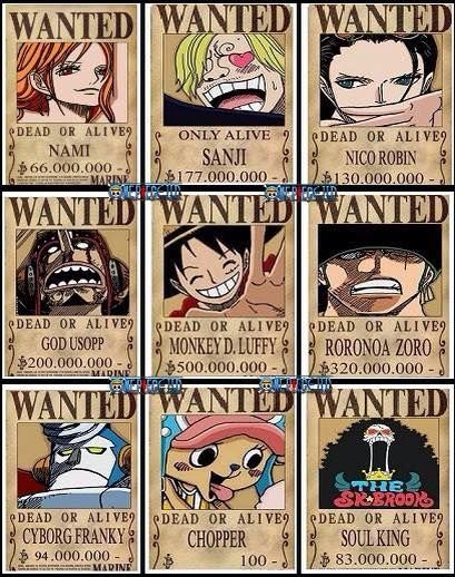 new straw hat bounty posters - Google Search