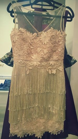 Golden fringe dress GO by Gabriella Olar