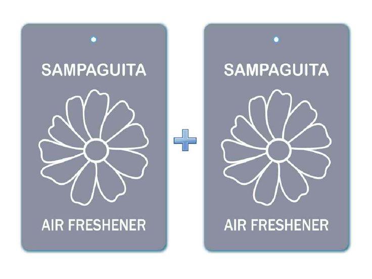 Sampaguita Floral Air Freshener Paper Hanging Bar (Pack of 2)/ Car-Home-Office Natural Deodorizer