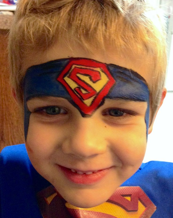 Henna By Leyla Shemesh: Face Painting - Superman Headband Symbol