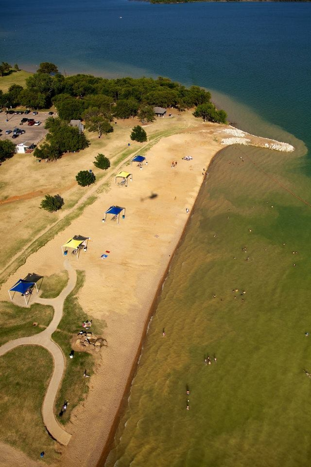 Hit the beach in the middle of DFW at Lynn Creek Park in Grand Prairie, Texas.