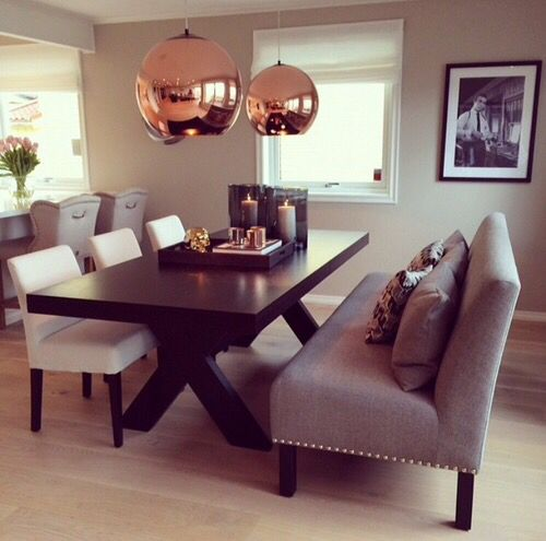 Copper Top Dining Room Tables Slate Farmhouse Kitchen: Best 25+ Dining Bench Ideas On Pinterest