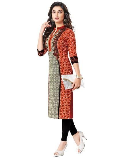 LadyIndia.com # Kurtas, Trendy Floral Cotton Multicolor Kurti For Women, Kurtis, Kurtas, Cotton Kurti, https://ladyindia.com/collections/ethnic-wear/products/trendy-floral-cotton-multicolor-kurti-for-women