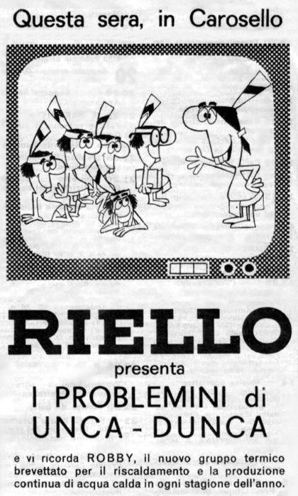 PUBBLICITA' SU RADIOCORRIERE TV: RIELLO
