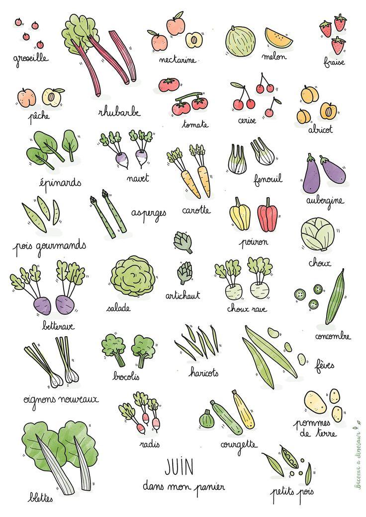 Fruits & légumes de saison – Juin